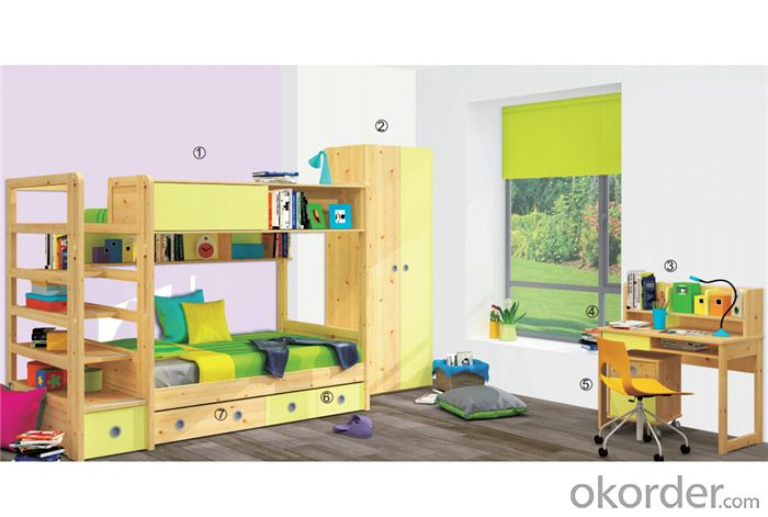 Kids Colorful Bunk bed Meeting Europe Standard