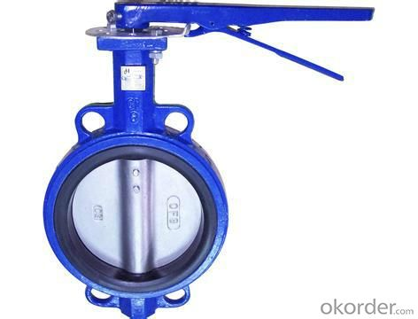 GG25 Ductile Iron Wafer Motor  Hand Lever Butterfly Valve