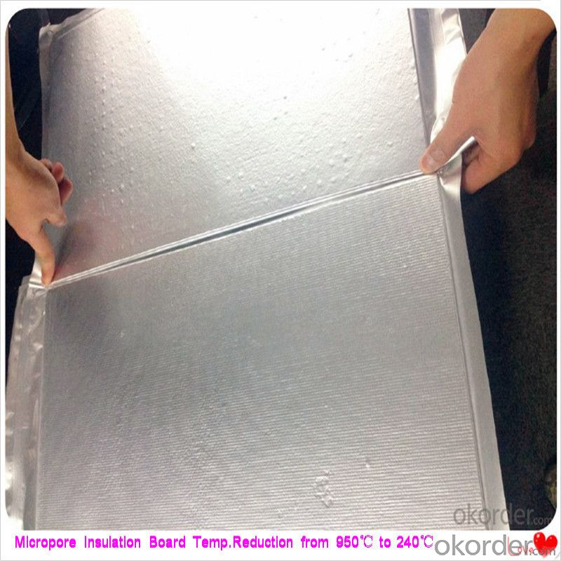 ​50mm Extruded Insulation Board Steel Plant Using Micropore Heat and Thermal Insulation Layer