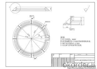 Manhole Cover D400/C250/B125 for Construction and Public Use