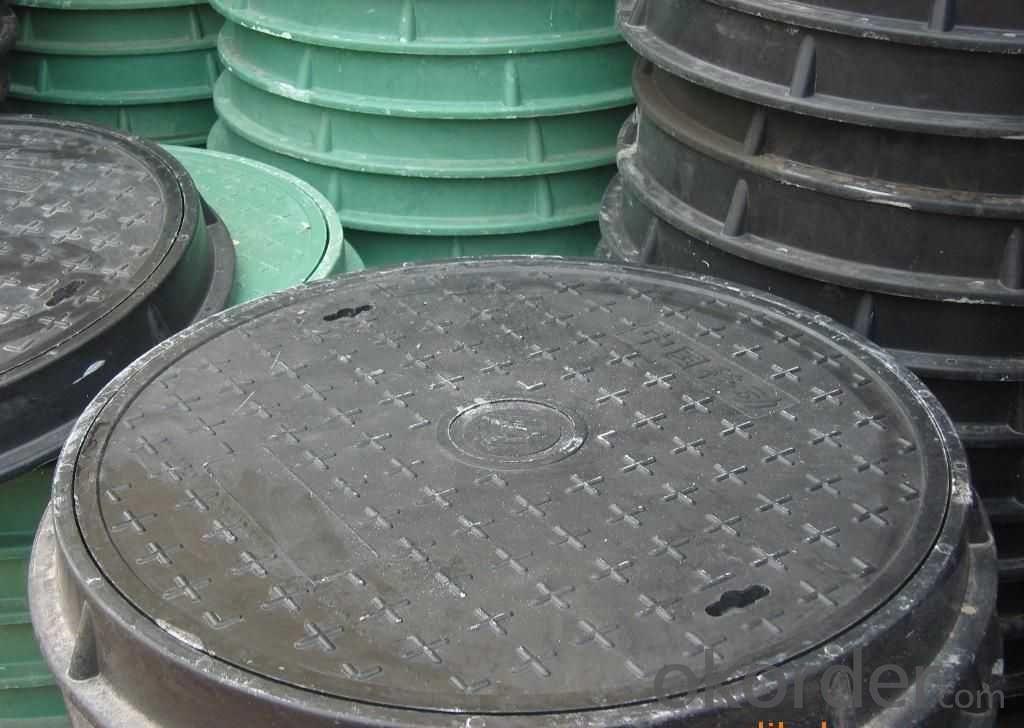 Ductile Iron Manhole Cover EN124/d400,GGG500&400-12 Cold Applied Black