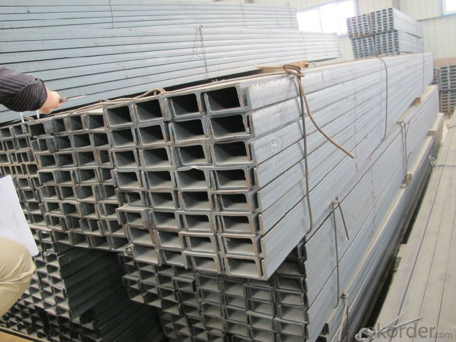 Hot Rolled Steel U Channels beams for Construction of  Warehouses