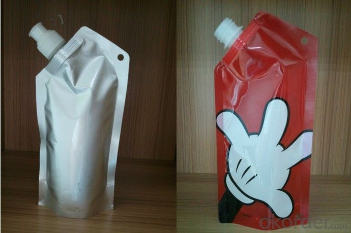 Stand Up Spout Pouch for Jelly Snack Packing