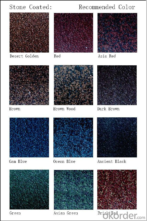 New Wood Free Sample  Factory Al-Zn Materials Colorful Stone coated metal roof tile
