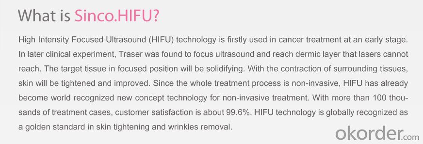 High Intensity Focused Ultrasound Hhifu for Wrinkle Removal / Hifu Face Lift