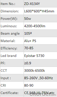 hot products 2015 back light 36w 50w LED ceiling panel light china product