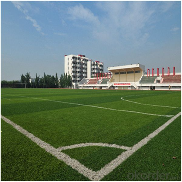 Best Durable PE Monofilament Soccer Artificial Grass For Sports / Synthetic Turf 40mm