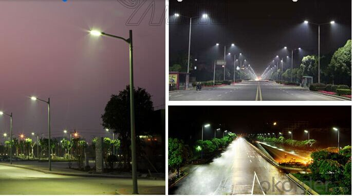 LED Street Light CE RoHS  Aluminum 110lm/w