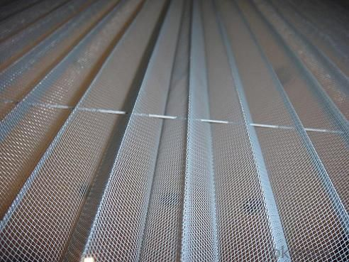 Polyester Pleated Window Screen Mesh with Fold of 20mm