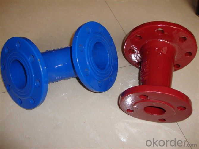 Ductile Iron Pipe Fittings Double Socket Taper High Quality DN80