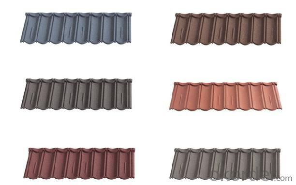 Classic Stone Coated Metal Chip Roof Tiles