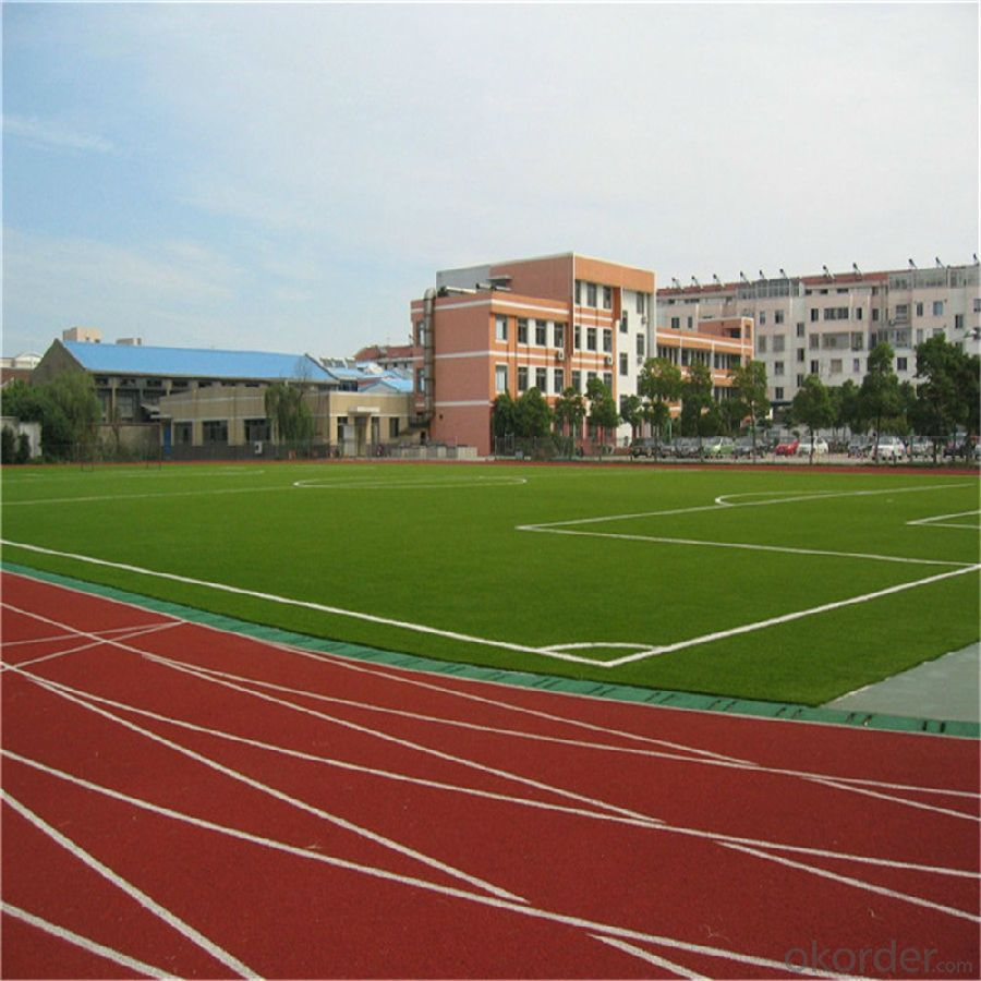 PE Football Artificial Grass , Greenl Synthetic Lawn For Soccer
