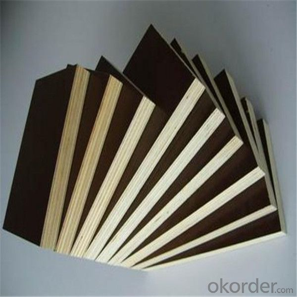Black Brown Shuttering Plywood / Concret Formwork Film Faced Plywood
