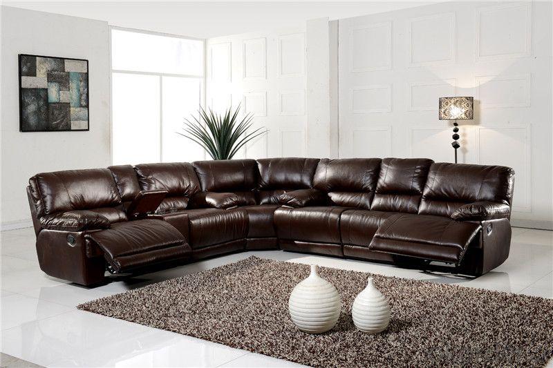 Natural Leather Recliner Sofa Of Modern, Modern Recliner Sofa Design