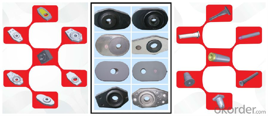 Ladle Nozzle Brick,Upper and Lower Nozzle Brick, Sliding Gate Nozzle