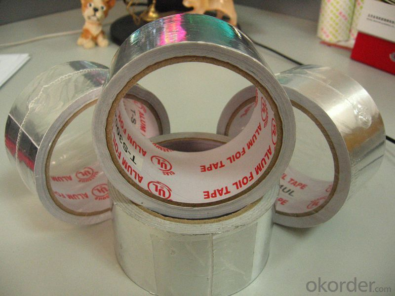 SELF ADHESIVE ALUMINUM FOIL TAPE-T-FSK-7150FR, REINFORCED FOIL TAPE, SARKING TAPE
