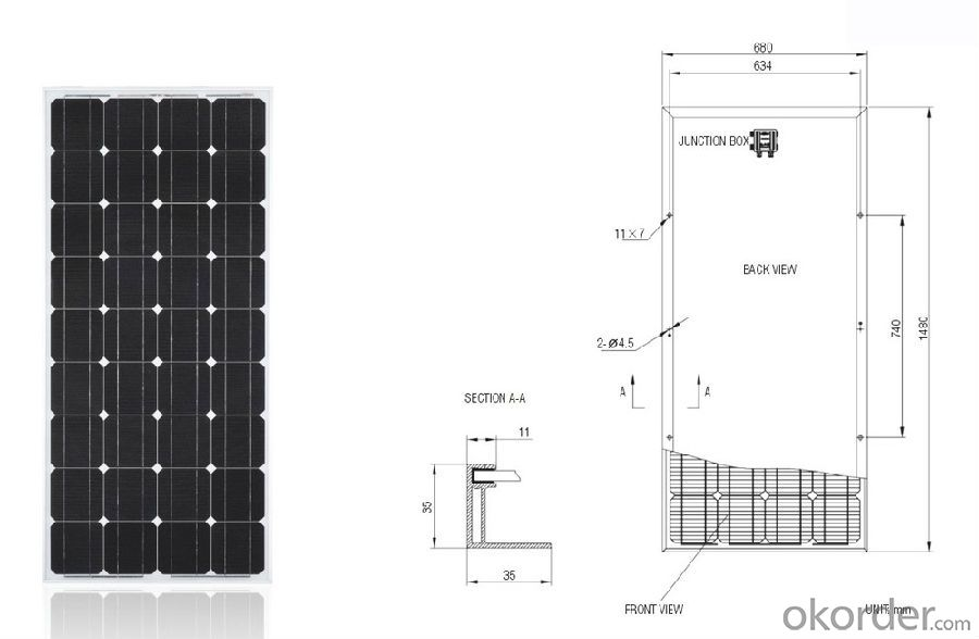 156mm Grade B Solar Panel Moudle High Efficiency