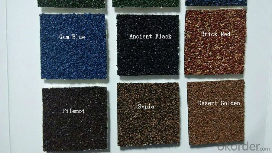 Villa Color Stone Coated Steel Roofing Sheet