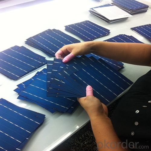 Mono 156X156MM2 Solar Cells Made in China