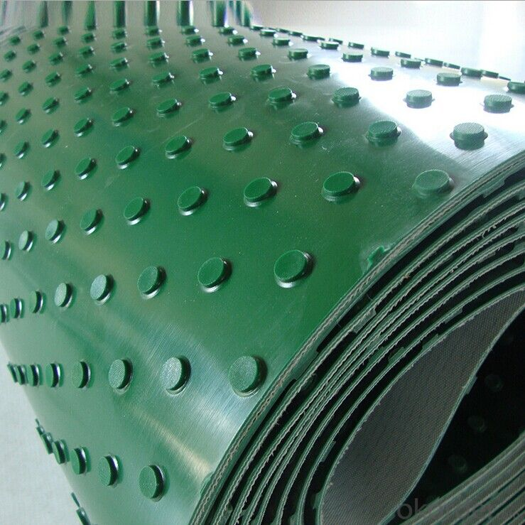 PVC Conveyor Belt with Skirt Sidewall Raised Edge Conveyor Belt