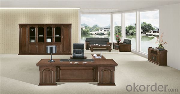 Commercial Desk with MDF and Vaneer for Manager