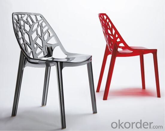 Dinning Chair Plastic & Wood & Metal Model CMAX-PP811