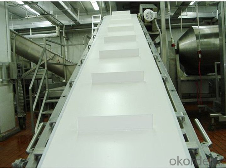 White PU Conveyor Belt  Food Grade Belt