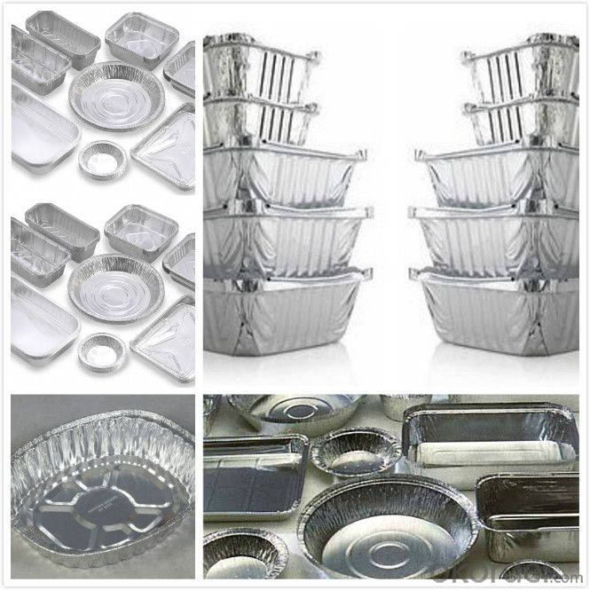 0.09mm colorful aluminum foil three compartments food package container