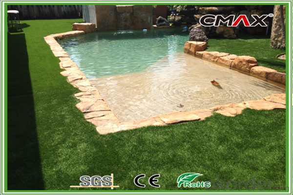 14000dtex U shape Landscaping Grass for Hotel,Luxury villas,Swimming pool