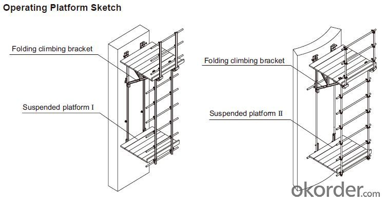 Buy CP190 Bracket Formwork Platform System For Vertical Wall