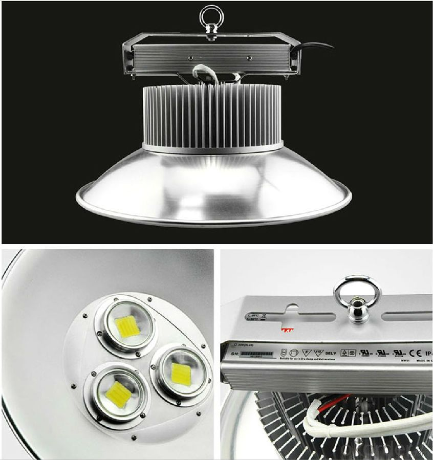 LED High Bay: 100W/120W/150W/180W, >100LM/W , CRI>80, isolated driver and heatsink