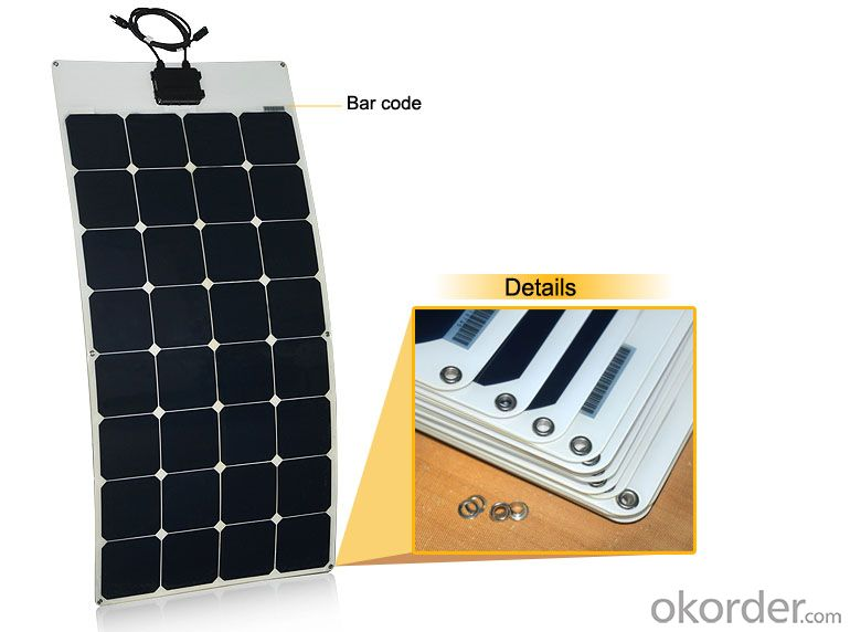 2014 Hot 100W Flexible Solar Panel From China Factory Directly