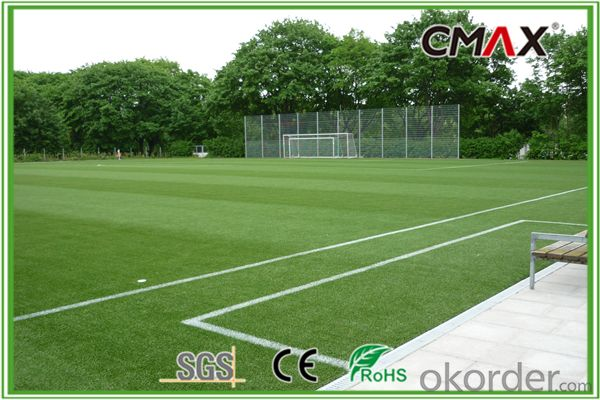 Bicolour Synthetic Grass for Indoor Futsal Court Fire Resistant