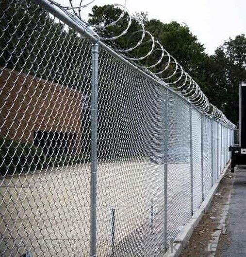 Hot Dipped Galvanized Chain Link Fencing with Barbed Wire