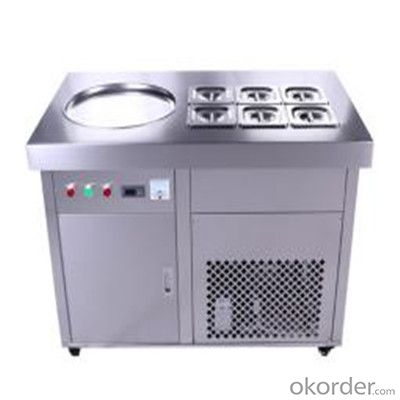 Flat Pan Fried Ice Cream Machine, Thailand Ice Cream Machine
