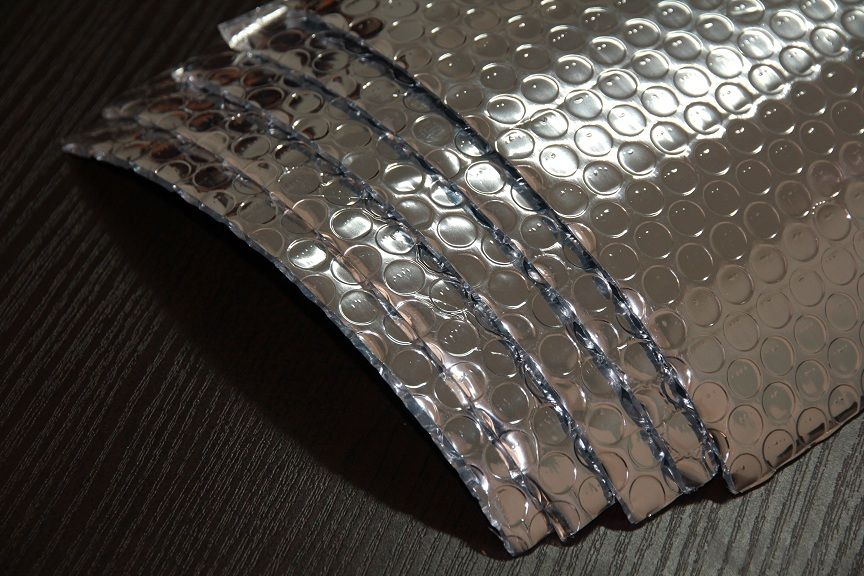 Embossed AL Woven Bubble Foam One-Layer Insulation