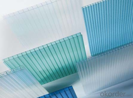 100% Virgin material colored twin-wall polycarbonate hollow sheet