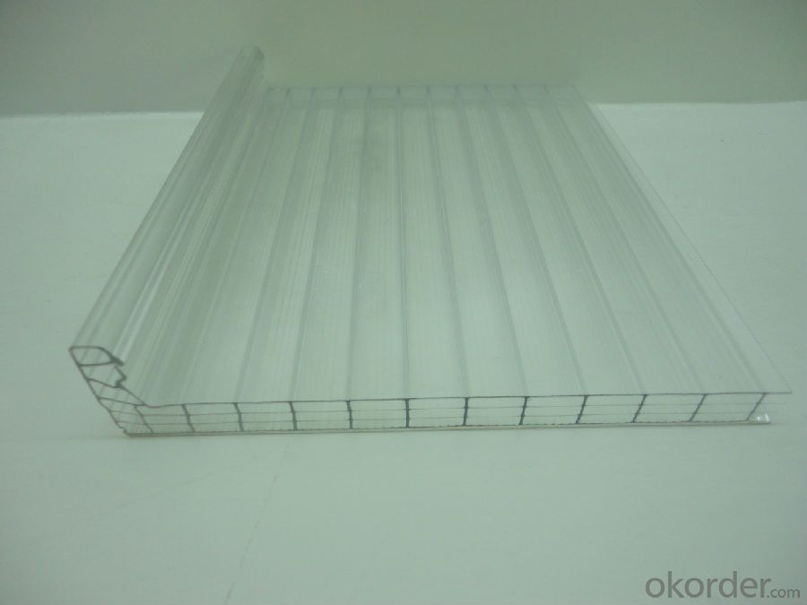 100% vrgin lexan material U-lock PC hollow sheet