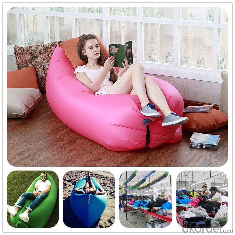 banana lazy lay bag Beach Sofa Lounge Banana Sleeping bags Fast Inflatable hangout Air Sleep bed