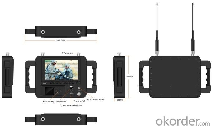 Wireless HD Video COFDM Receiver with Sun-shade