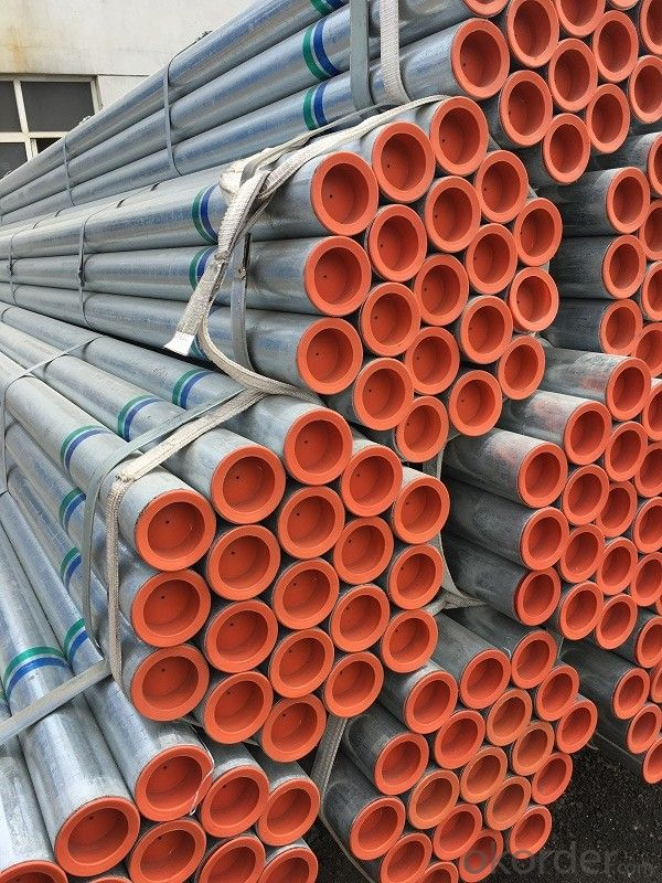 Galvanized steel pipe for low pressure fluid