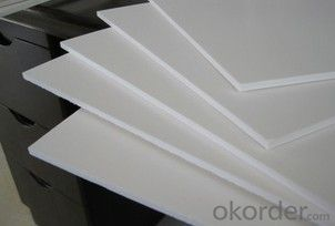 professional custom compective price white rigid foam PVC sheet
