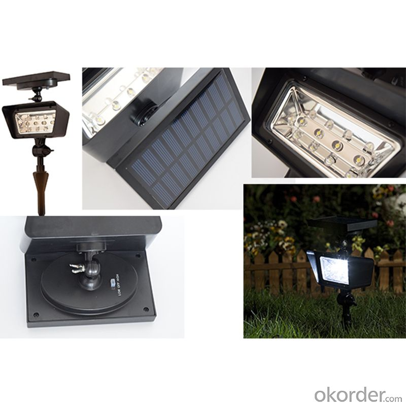 ABS Material 4pcs Led Solar Spot Projector Light Energy Saving