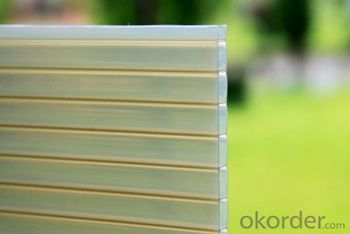 polycarbonate manufacturer fire retardant double-wall hollow plastic sheet