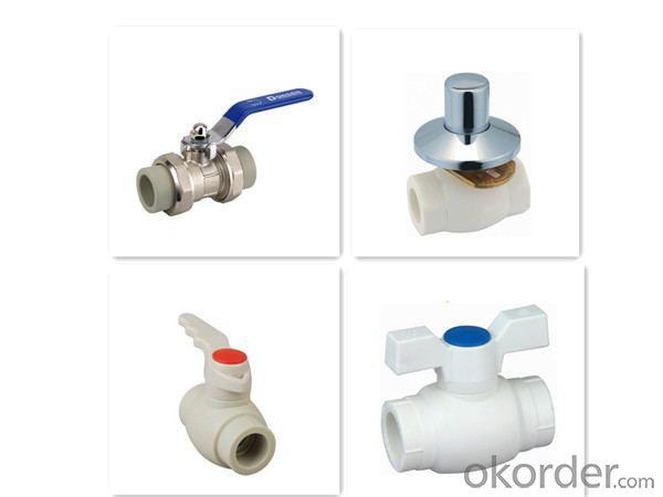 PP-R  type  hot melt copper core ball valve