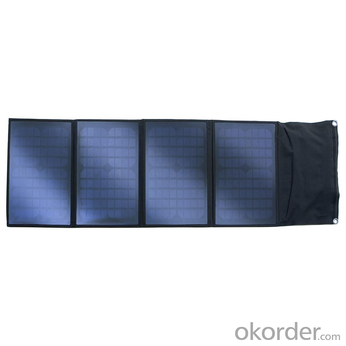 110W Folding Solar Panel with Flexible Supporting Legs for Camping