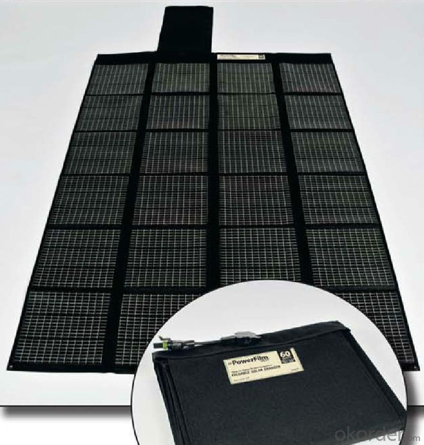70W Folding Solar Panel with Flexible Supporting Legs for Camping