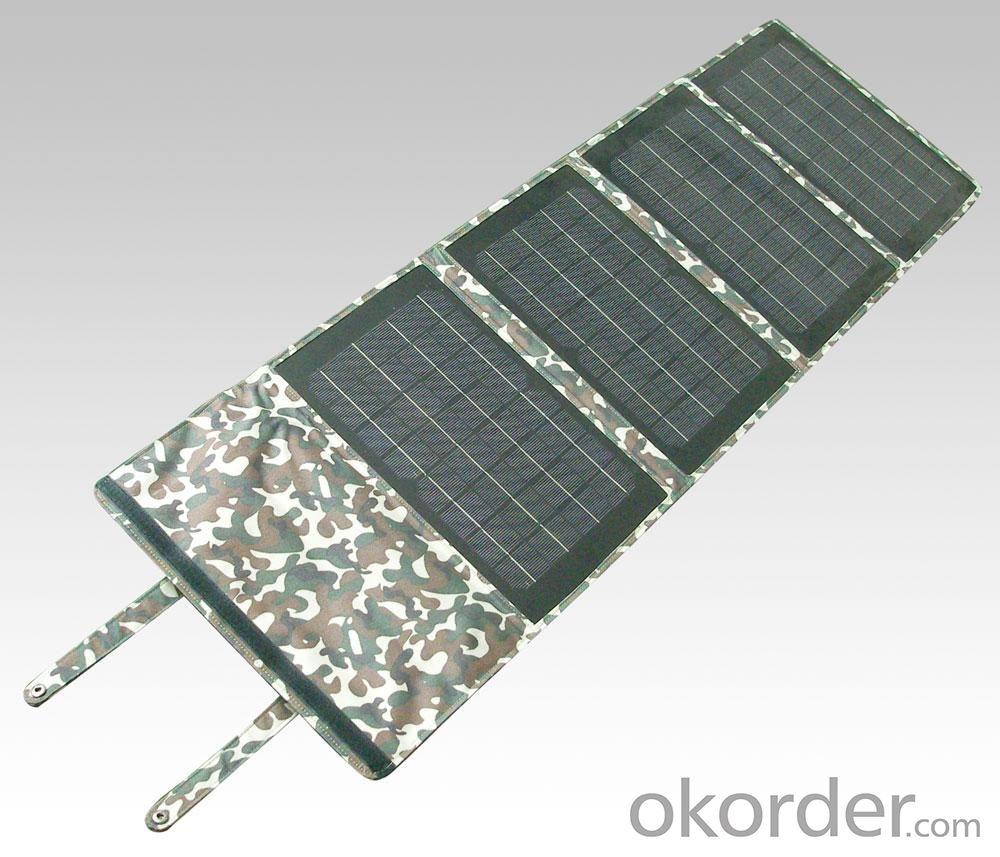 150W Folding Solar Panel with Flexible Supporting Legs for Camping