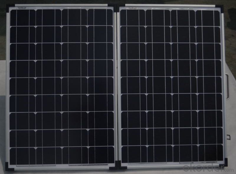 120W Folding Solar Panel with Flexible Supporting Legs for Camping