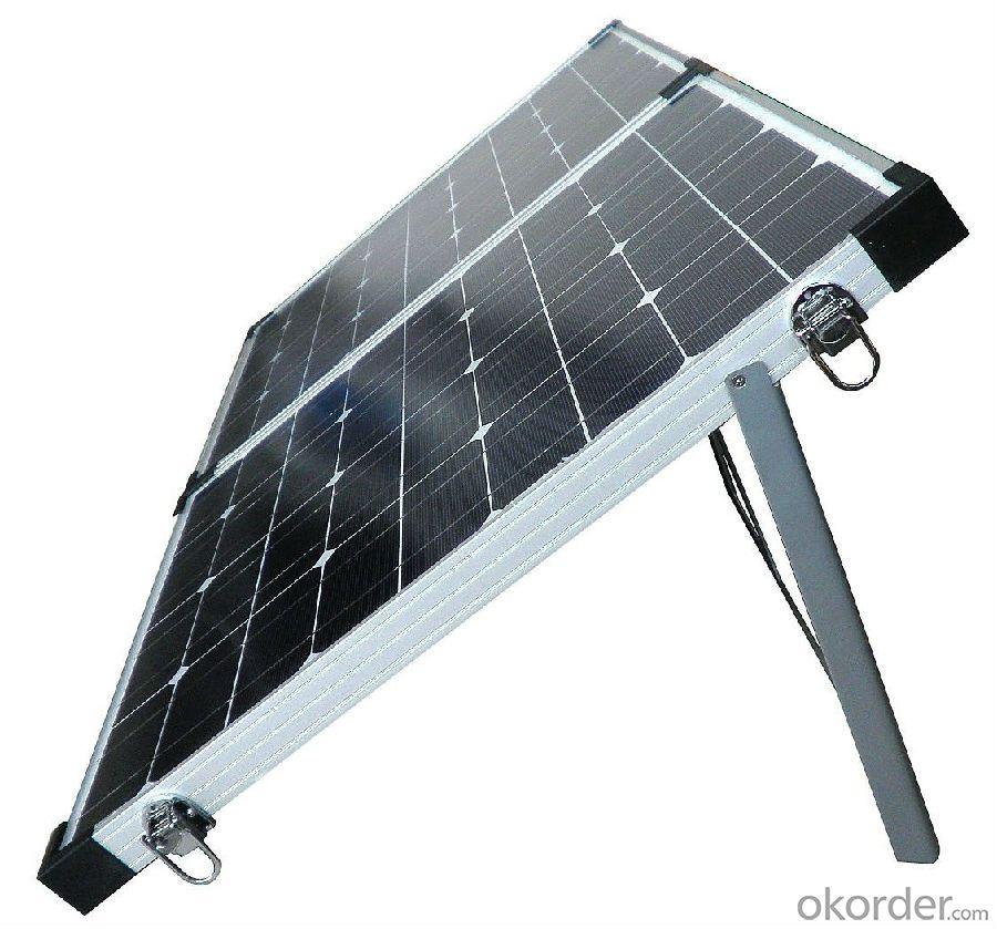 80W Folding Solar Panel with Flexible Supporting Legs for Camping